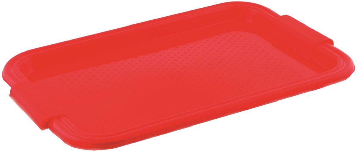 Поднос Plastic Centre Итальянский, цвет: красный, 45,5 х 31 смПЦ1460КРПоднос универсальный для переноски посуды. Прочный материал обеспечивает долговечность изделия. Рельефная поверхность предотвращает скольжение посуды на подносе.