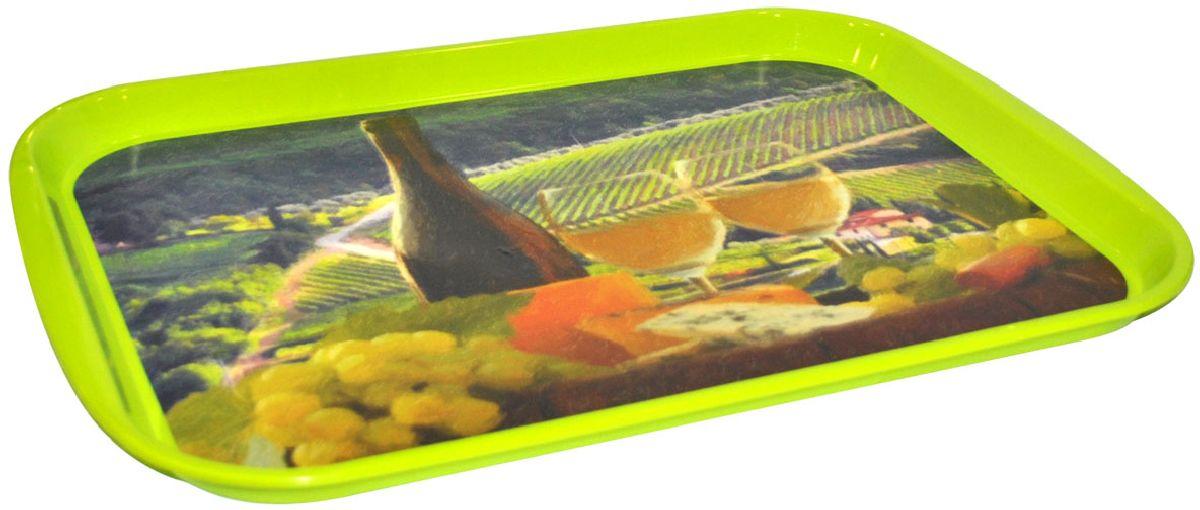 Поднос Plastic Centre Итальянский полдень, цвет: зеленый, 47 х 35,5 смVT-1520(SR)Романтический ужин или завтрак в постель….Подойдет наш поднос Итальянский полдень. Дизайн, пропитан теплом, солнцем и гостеприимным духом Италии. Прочный поднос прослужит долгое время. Декор не смывается водой.