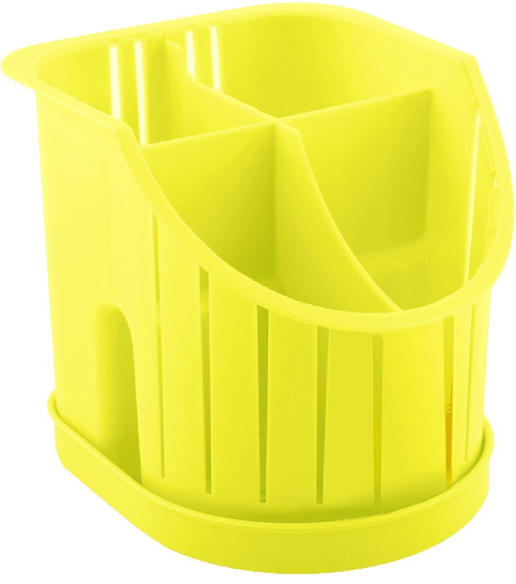 Сушилка для столовых приборов Plastic Centre, 4-секционная, цвет: желтый, 16 х 14,2 х 12,8 смПЦ1550ЛМНСушилка для столовых приборов пригодится на любой кухне. Четыре секции позволят сушить или хранить столовые приборы по отдельности (ножи, вилки, ложки и т.п.). Сушилка снабжена поддоном.