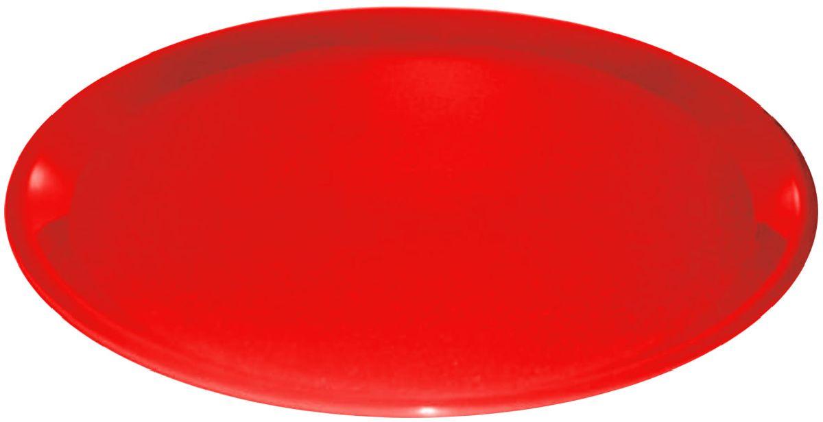 Поднос Plastic Centre, цвет: красный, диаметр 32 смПЦ1633КРПоднос универсальный для переноски посуды. Прочный материал обеспечивает долговечность изделия. Рельефная поверхность предотвращает скольжение посуды на подносе.