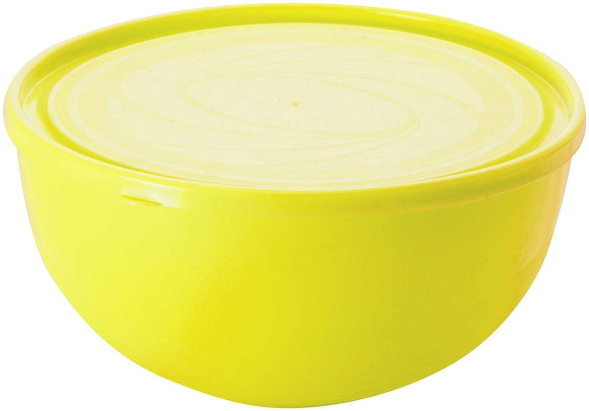 Салатник Plastic Centre Galaxy, с крышкой, цвет: желтый, 2,5 лПЦ1855ЛМННаш многофункциональный салатник с крышкой прекрасно подходит как для приготовления, так и для подачи различных блюд на стол. Лаконичный дизайн впишется в любую обстановку кухни. Крышка сохранит свежесть приготовленных блюд.