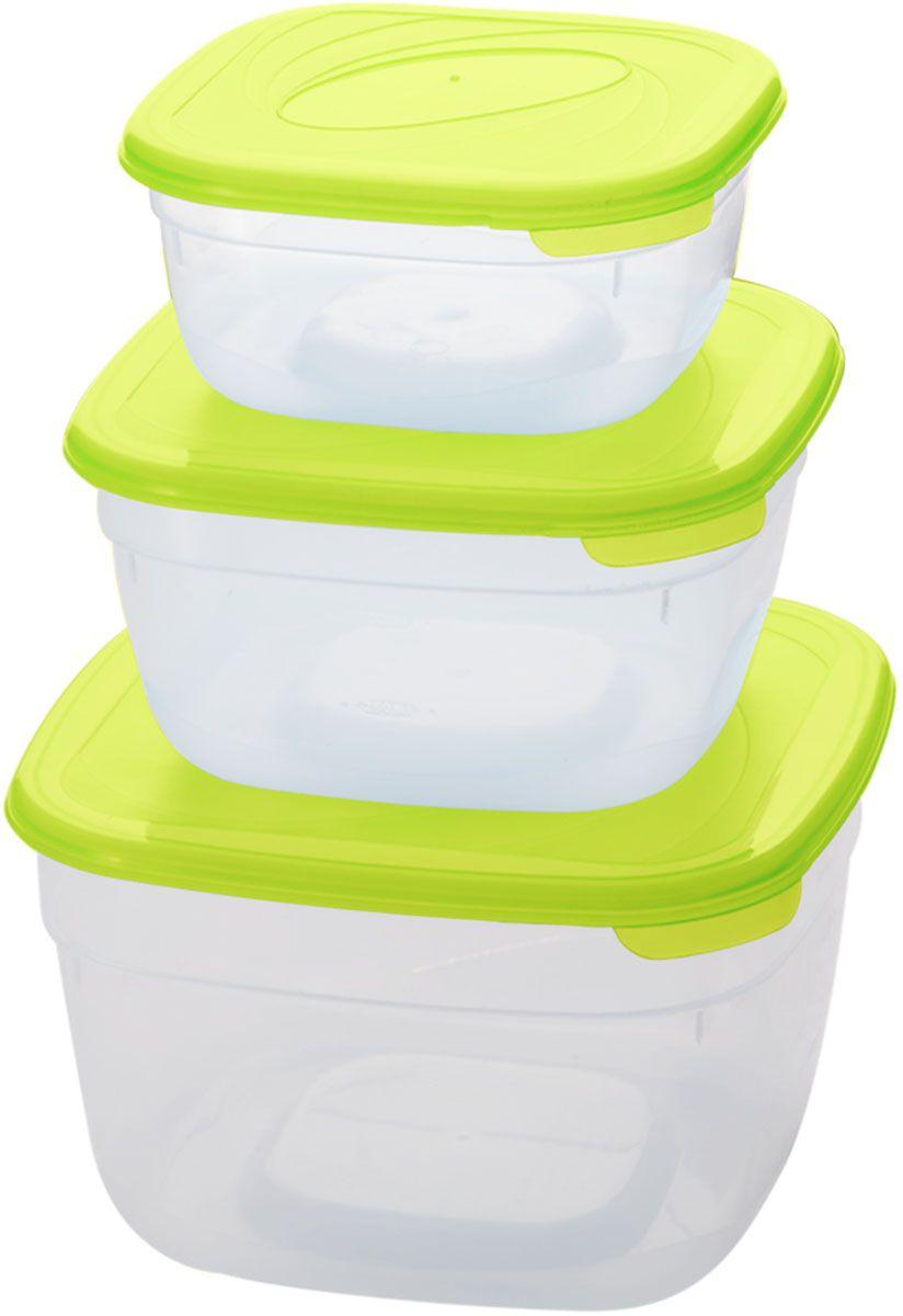Комплект емкостей для СВЧ Plastic Centre Galaxy, цвет: светло-зеленый, прозрачный, 3 шт94672Комплект емкостей для СВЧ разных размеров многофункционального применения. Их можно применять как для хранения различных продуктов, так и для разогрева пищи, замораживания ягод и овощей в морозильной камере и т.п. При хранении продуктов емкости можно ставить одну на другую, сохраняя полезную площадь холодильника или морозильной камеры.Объем маленькой емкости: 1 л.Объем средней емкости: 2 л.Объем большой емкости: 3 л.