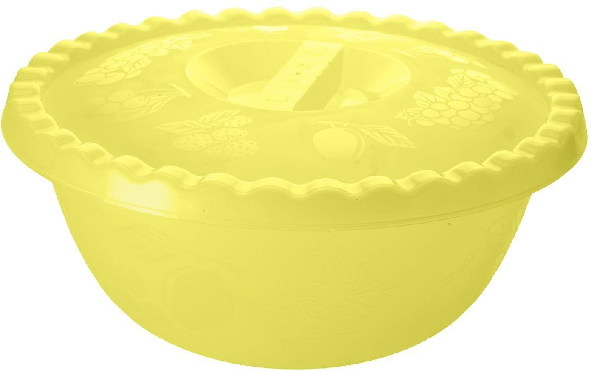 Миска Plastic Centre Фазенда, с крышкой, цвет: желтый, 6 лПЦ2350ЖТПРНаш многофункциональный салатник с крышкой прекрасно подходит как для приготовления, так и для подачи различных блюд на стол. Классический дизайн порадует хозяйку. Крышка сохранит свежесть приготовленных блюд.