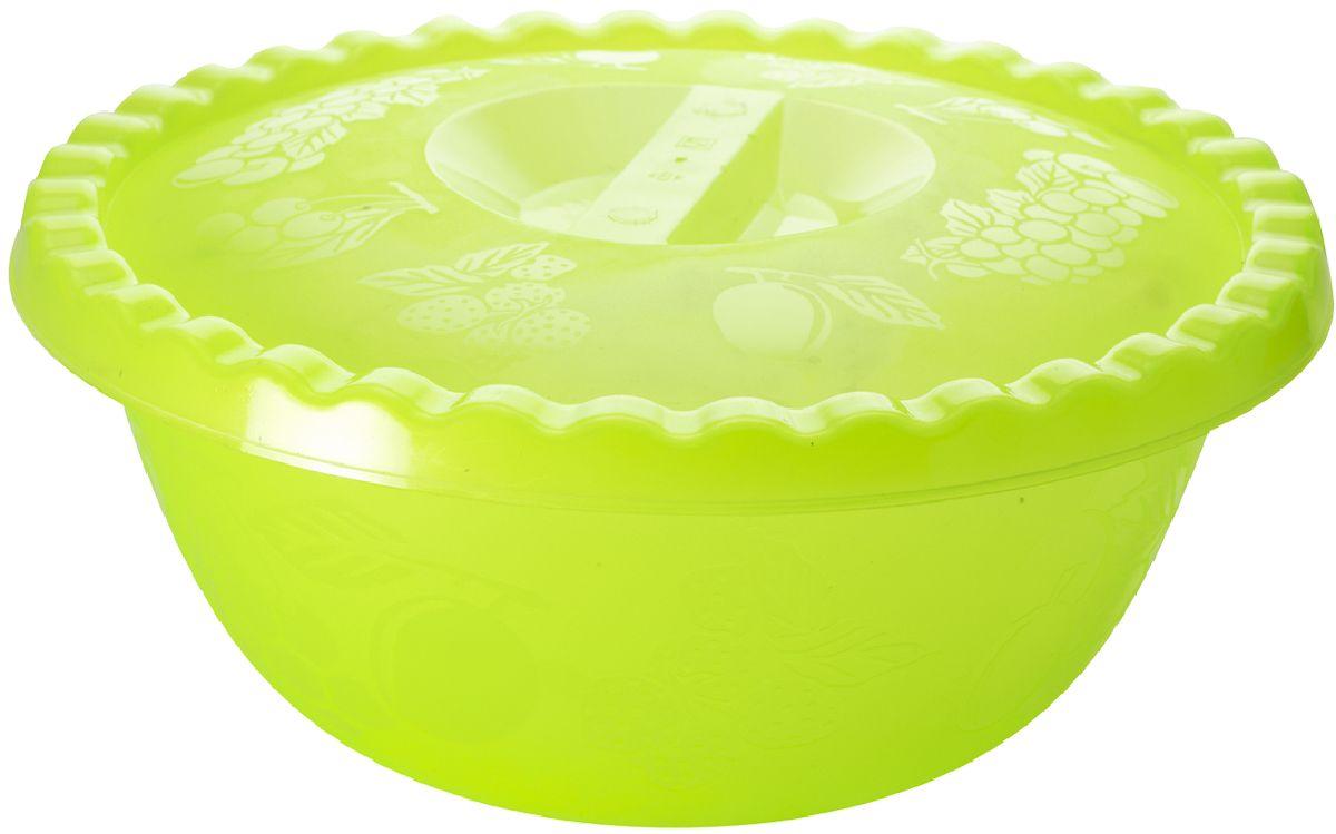 Миска Plastic Centre Фазенда, с крышкой, цвет: светло-зеленый, 6 лПЦ2350ЗЛПРНаш многофункциональный салатник с крышкой прекрасно подходит как для приготовления, так и для подачи различных блюд на стол. Классический дизайн порадует хозяйку. Крышка сохранит свежесть приготовленных блюд.