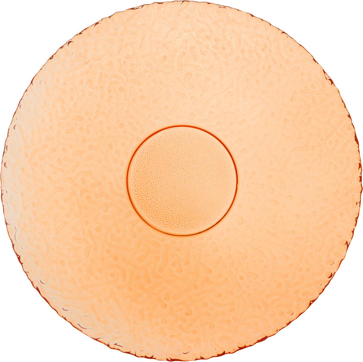 Тарелка NiNaGlass Ажур, цвет: оранжевый, диаметр 21 см83-070-ф210 ОРЖТарелка NiNaGlass Ажур выполнена из высококачественного стекла и оформлена оригинальным рельефом. Она прекрасно впишется в интерьер вашей кухни и станет достойным дополнением к кухонному инвентарю. Тарелка NiNaGlass Ажур подчеркнет прекрасный вкус хозяйки и станет отличным подарком. Диаметр тарелки: 21 см. Высота: 2,5 см.