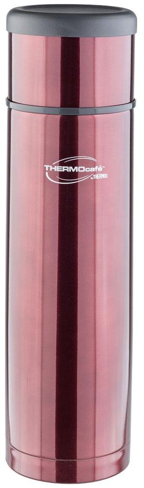 Термос Thermocafe By Thermos, цвет: кофейный, 1 л. EveryNight-50272201Идеальный выбор, чтобы взять с собой горячий кофе, ледяной чай или другой любимый напиток Крышка термоса служит кружкой для питья . Ее конструкция не дает внешней поверхности нагреваться. Пробка позволяет добраться до содержимого, не извлекая ее полностью, нужно только повернуть пробку не откручивая целиком.Строение пробки не позволит случайно пролиться жидкости и помогает сохранить температуру содержимого долгое время.