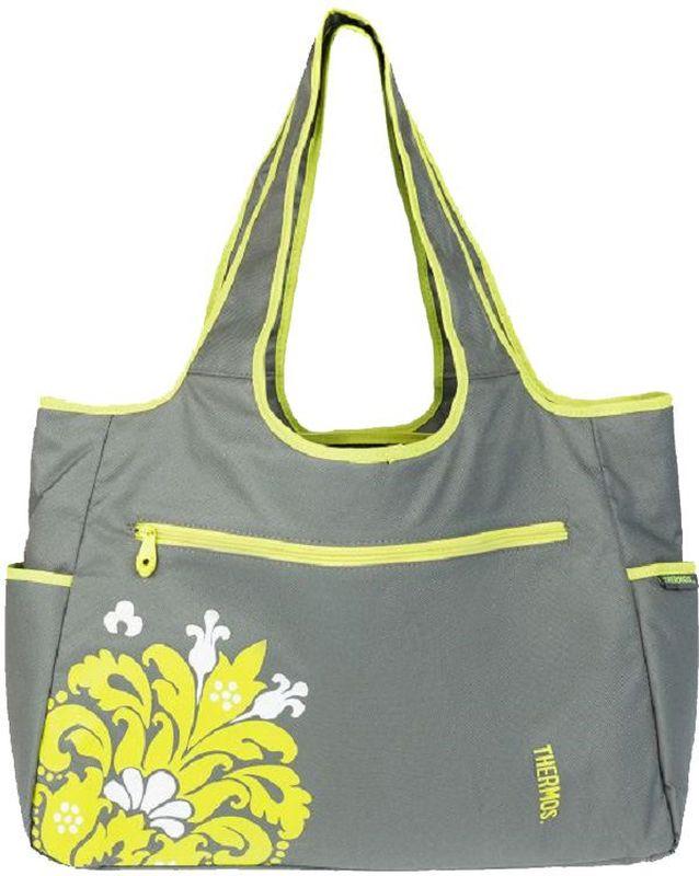 Термосумка Thermos Diaper Tote, цвет: серый, 17 л548580Удобная сумка - термос для мамы, с пеленкой для малыша.