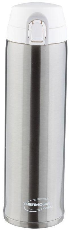 Термос Thermocafe By Thermos, цвет: стальной, 0,6 л. XTC-60270337Удобен для использования в автомобиле или при занятиях спортом. Крышка снабжена дополнительным фиксатором - защитой от случайного открытия. Откидывается полностью и фиксируется в открытом положении. Что дает возможность спокойно пить, не боясь получить по носу