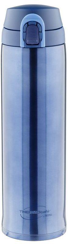 Термос Thermocafe By Thermos, цвет: темно-голубой, 0,6 л. XTC-60115510Термос Thermocafe By Thermos очень удобен для использования в автомобиле или при занятиях спортом.Крышка снабжена дополнительным фиксатором - защитой от случайного открытия. Откидывается полностью и фиксируется в открытом положении.Объем: 600 мл.