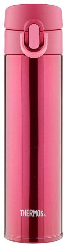 Термос Thermos, цвет: бордовый, 0,4 л. JNI-401933935Это серия суперлегких и супертонких (наименьший диаметр) термосов, созданная по последним разработкам специалистов компании Thermos. При объеме 400 ml, термос весит всего лишь 190 г.