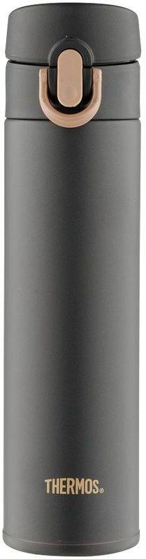 Термос Thermos, цвет: темно-серый, 400 мл. JNI-401115510Термос Thermos это суперлегкий и супертонкий термос, выполненный из стали.У термоса имеется фиксатор от случайного открытия, крышка откидывается полностью и фиксируется.Объем: 400 мл.
