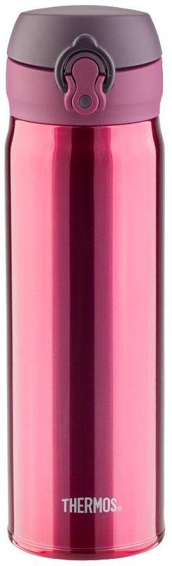 Термос Thermos, цвет: бордовый, 0.5 л. JNL-502935076Это серия суперлегких и супертонких (наименьший диаметр) термосов, созданная по последним разработкам специалистов компании Thermos. При объеме 500 ml, термос весит всего лишь 210 г.