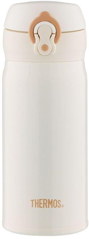 Термос Thermos, цвет: белый, 0,35 л. JNL-352935281Это серия суперлегких и супертонких (наименьший диаметр) термосов, созданная по последним разработкам специалистов компании Thermos. При объеме 350 ml, термос весит всего лишь 175 г.