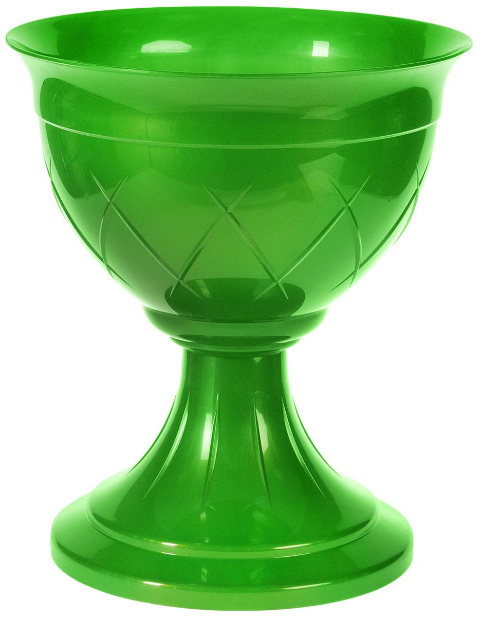 Горшок цветочный Santino Лилия, на ножке, цвет: зеленое золото, 9 лZ-0307Горшок Santino Лилия изготовлен из прочного пластика. Изделие предназначено для выращивания цветов и других растений как в домашних условиях, так и на улице. Такой горшок порадует вас изысканным дизайном и функциональностью, а также оригинально украсит интерьер помещения. Диаметр горшка (по верхнему краю): 32 см. Высота горшка: 36,5 см. Объем горшка: 9 л.