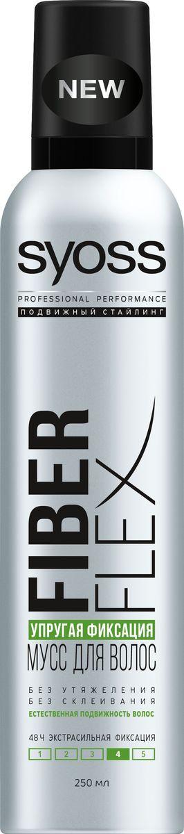 Syoss FiberFlex Упругая Фиксация мусс для волос экстрасильной фиксации 250 мл4605845001470Без утяжеления - без склеивания - естественная подвижность волос