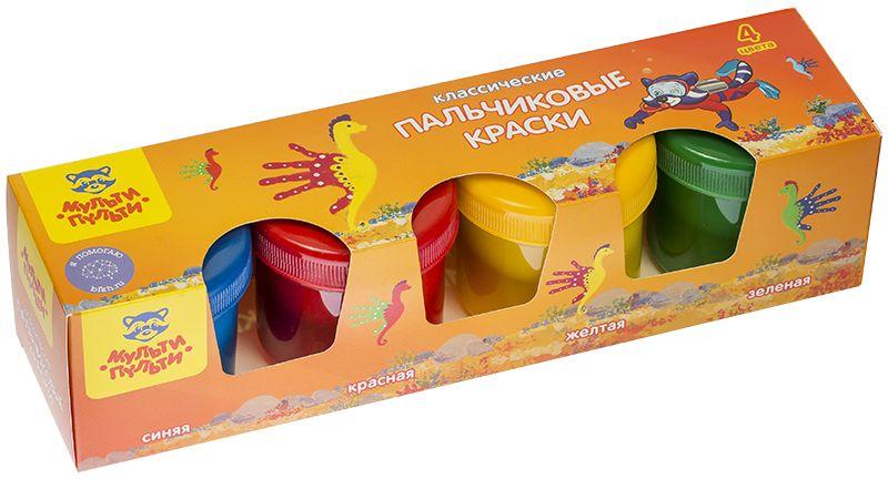 Мульти-Пульти Краски пальчиковые Морские приключения Енота 4 цветаПК_10238Пальчиковые краски Мульти-Пульти Морские приключения Енота идеально подходят для творческого развития детей. Рисование пальчиками развивает и тренирует мелкую моторику рук, положительно влияет на эмоциональное состояние ребенка, способствует формированию правильного восприятия цвета. В комплекте четыре баночки с ярким материалом для рисования: синего, красного, желтого и зеленого цветов. Для художества пальчиковыми красками можно использовать не только ладошки, но и обычные кисти. Состав имеет водную основу, поэтому безопасен для чувствительной детской кожи. Краски легко смываются с рук и рабочей поверхности. Густая разноцветная масса равномерно распределяется по бумаге и не деформирует ее.