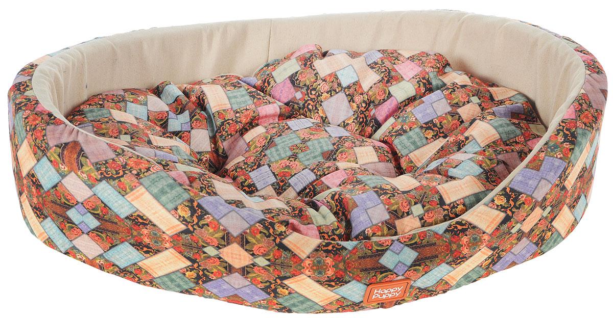 Лежак для собак Happy Puppy Лукоморье-3, 57 x 44 x 15 смHP-160067-3Мягкий лежак Happy Puppy Лукоморье-3, изготовлен в цветочном дизайне. Лежак выполнен из полиэстера и искусственной замши, а наполнитель - из мягкого холлофайбера. Такой материал не теряет своей формы долгое время. Лежак оснащен мягкой съемной подстилкой. Высокие бортики обеспечат вашему любимцу уют. За изделием легко ухаживать, его можно стирать вручную. Мягкий лежак станет излюбленным местом вашего питомца, подарит ему спокойный и комфортный сон, а также убережет вашу мебель от шерсти. Размер: 57 x 44 x 15 см.