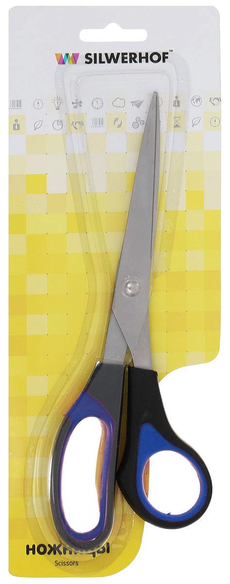 Silwerhof Ножницы офисные Softlinie цвет черный синий 21 см 450057_черный, синий