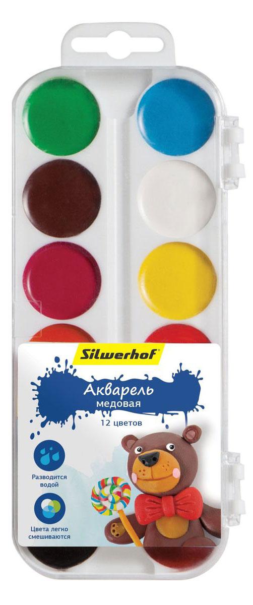 Silwerhof Акварель медовая Пластилиновая коллекция Мишка 12 цветов961123-12Медовая акварель Silwerhof позволит вашему малышу проявить весь свой творческий потенциал. В наборе - двенадцать разноцветных красок. Они прекрасно подходят для детского творчества и декоративных работ по холсту, бумаге и картону. Краски мягко ложатся на бумагу, оставляя яркий и четкий цвет. Они непременно порадуют юного художника своим качеством и насыщенностью цвета, а красочная коробочка поднимет ребенку настроение! Состав: декстрин, глицерин дистиллированный, сахар, мел, пигменты, консервант, вода питьевая.
