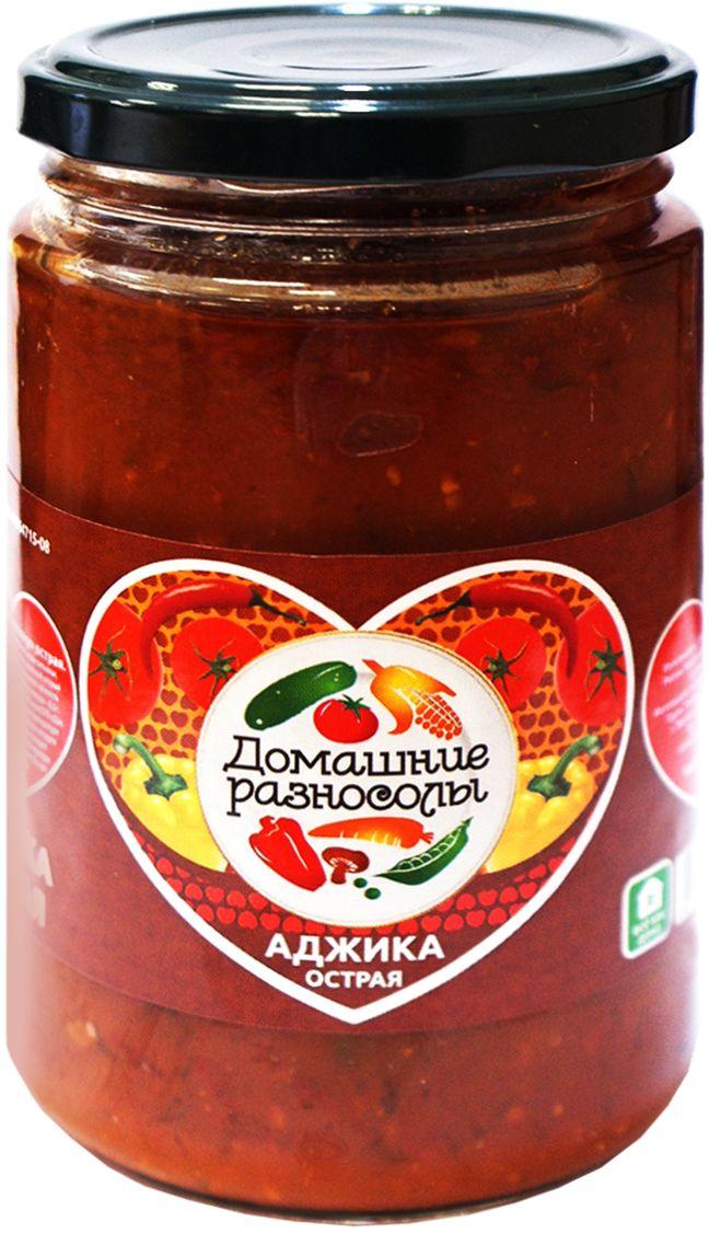 Домашние разносолы аджика острая, 370 г206515052510018Аджика - традиционное абхазское блюдо, представляющее собой соус или пасту. В классический вариант аджики входят такие ингредиенты, как: красный перец, чеснок, различные пряные травы. В России аджикой принято называть соус из томатов с чесноком, свежий или закрытый на зиму.