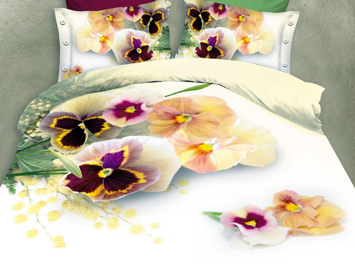 Комплект белья Cleo Виттрока, семейный, наволочки 50х70, 70х70DAVC150Комплект постельного белья из полисатина Cleo - это шелковая прохлада в любое время года! Тонкое, средней плотности, с шелковистой поверхностью и приятным блеском постельное белье устойчиво к износу, не выгорает, не линяет, рассчитано на многократные стирки. Двойная скрутка волокон позволяет получать довольно плотный, прочный на разрыв материал. Легко отстирывается, быстро сохнет и самой важно для хозяек - не мнется! Комплект состоит из двух пододеяльников, простыни и четырех наволочек.