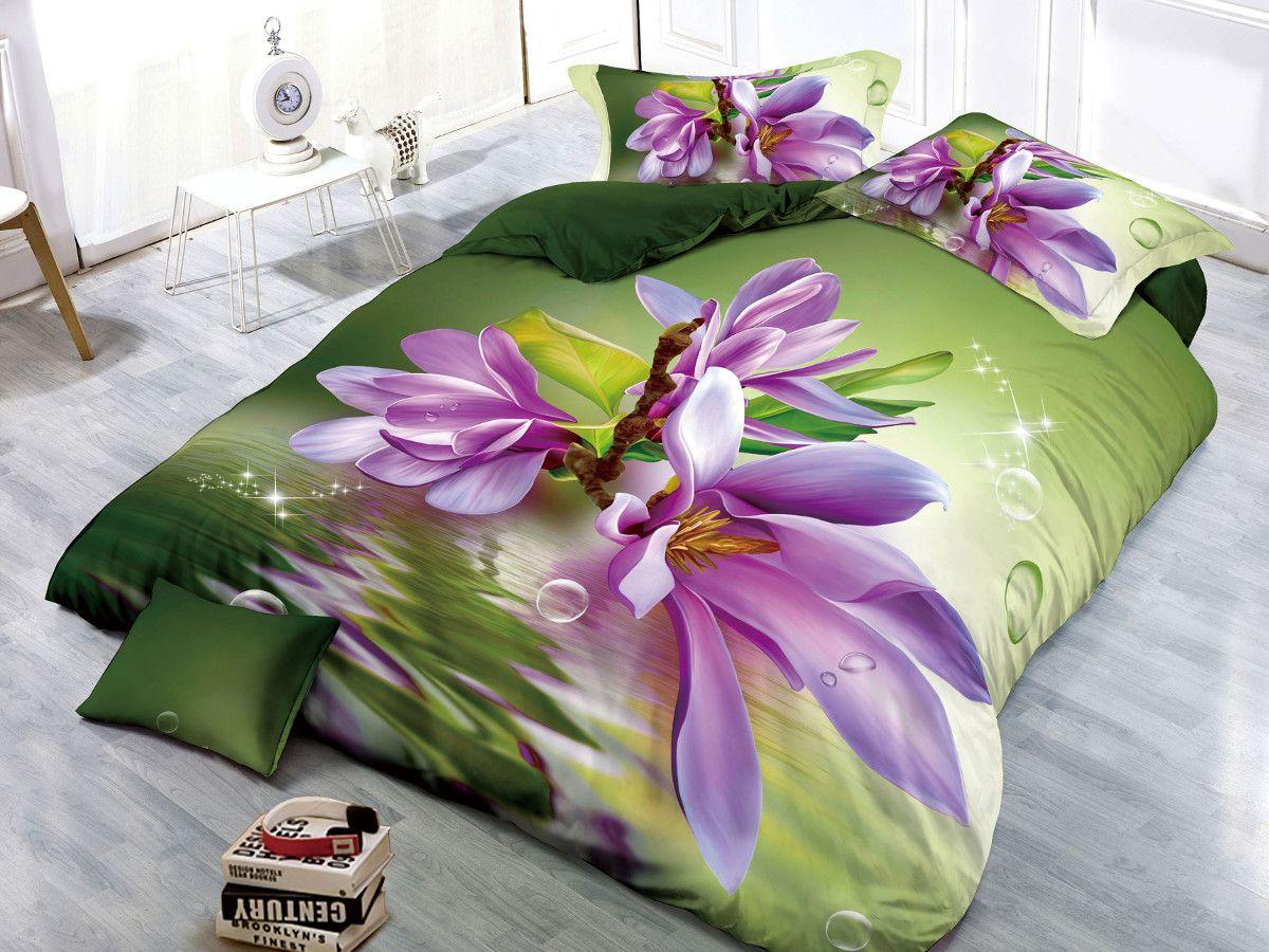 Комплект белья Cleo Магнолия, 2-спальный, наволочки 70х7020/088-PSКомплект постельного белья из полисатина Cleo - это шелковая прохлада в любое время года! Тонкое, средней плотности, с шелковистой поверхностью и приятным блеском постельное белье устойчиво к износу, не выгорает, не линяет, рассчитано на многократные стирки. Двойная скрутка волокон позволяет получать довольно плотный, прочный на разрыв материал. Легко отстирывается, быстро сохнет и самой важно для хозяек - не мнется! Комплект состоит из пододеяльника, простыни и двух наволочек.