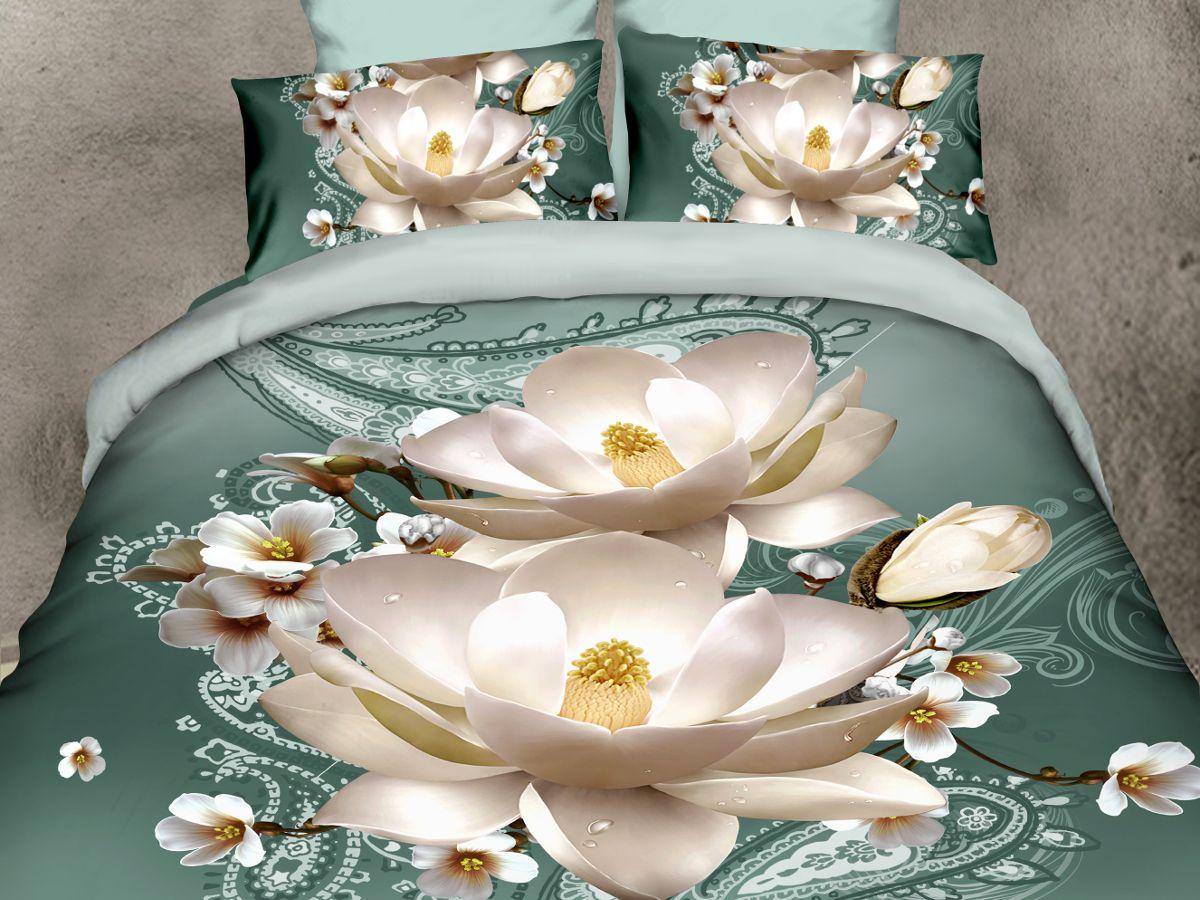 Комплект белья Cleo Лилии, 2-спальный, наволочки 70х7020/093-PSКомплект постельного белья из полисатина Cleo - это шелковая прохлада в любое время года! Тонкое, средней плотности, с шелковистой поверхностью и приятным блеском постельное белье устойчиво к износу, не выгорает, не линяет, рассчитано на многократные стирки. Двойная скрутка волокон позволяет получать довольно плотный, прочный на разрыв материал. Легко отстирывается, быстро сохнет и самой важно для хозяек - не мнется! Комплект состоит из пододеяльника, простыни и двух наволочек.