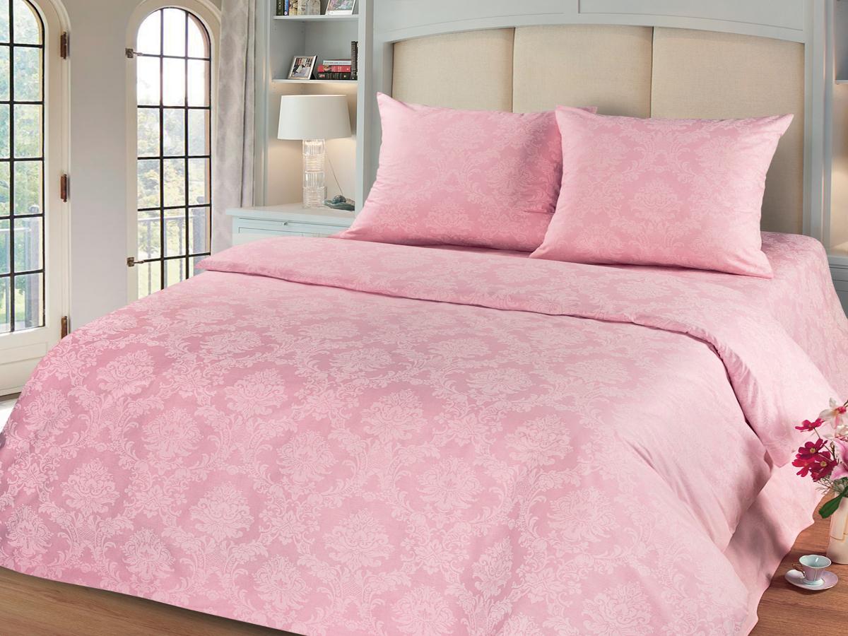 Комплект белья Cleo Агат, семейный, наволочки 50х70, 70х70, цвет: розовый41/007-PGКомплект постельного белья Cleo выполнен из поплина в романтическом стиле, визуально текстура нанесения рисунка напоминает жаккард. Поплин - 100% хлопок, ему характерен репсовый эффект, который образуется методом чередования толстых и тонких нитей, в результате на поверхности появляются рубчики, создавая неравномерность полотна. Постельное белье из поплина обладает рядом преимуществ: мягкое и шелковистое, натуральное, экологически чистое, гипоаллергенное, прочное, не деформируется, не растягивается и держит форму, пропускает воду и воздух, прекрасно стирается в прохладной воде. Комплект состоит из двух пододеяльников, простыни и четырех наволочек.