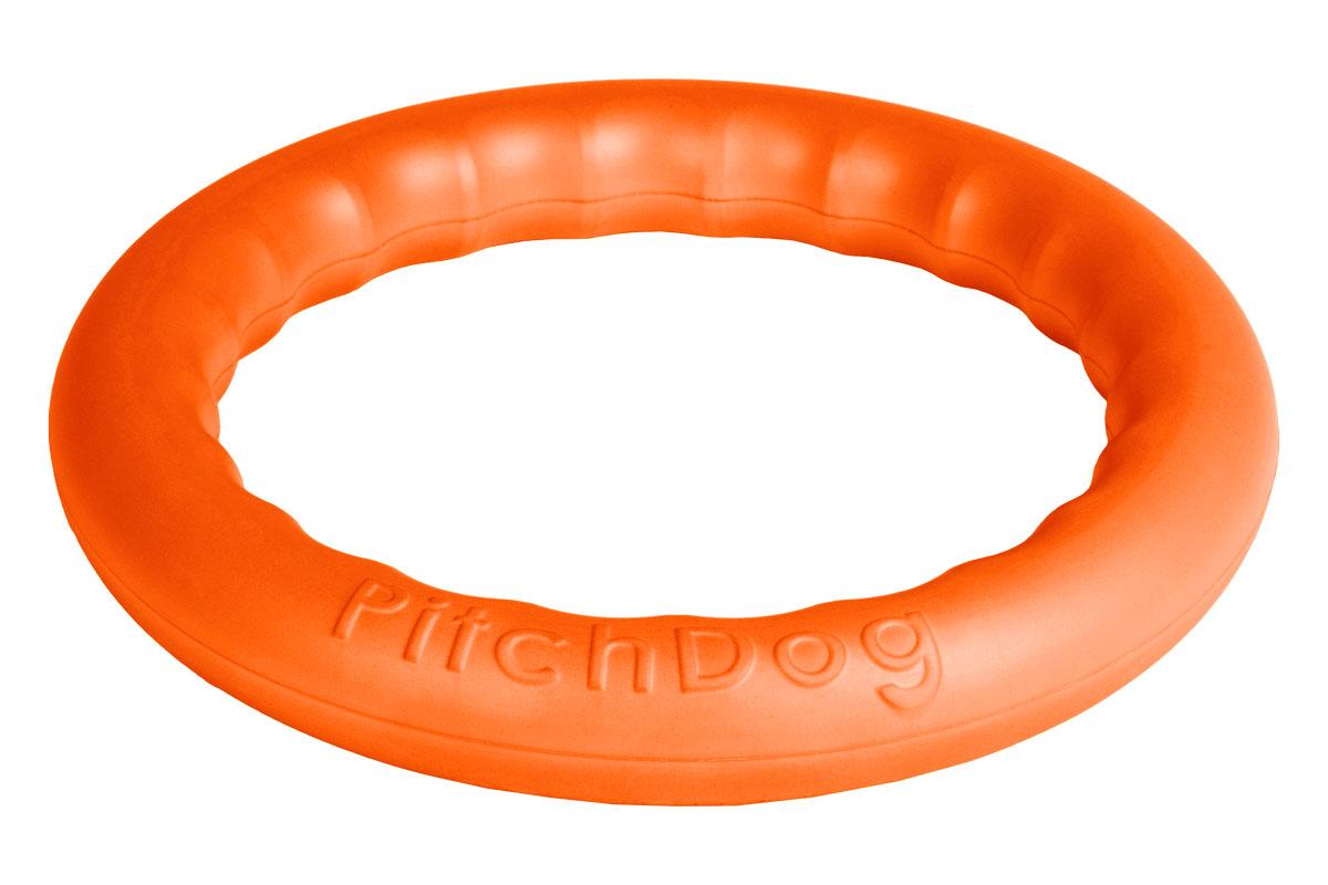 Кольцо игровое для аппортировки PitchDog, цвет: оранжевый, диаметр 28 см62384Инновационная игрушка для собак всех пород и возрастов, предназначенная как для повседневной игры, так и для использования в качестве идеального апортировочного снаряда для занятий Pitch & Go («питч энд гоу»). Изготовлена из особого легкого и безопасного материала, который очень нравится собакам и позволяет играть с PitchDog (ПитчДог) как на суше, так и в воде. Диаметр 28 см Цвет: оранжевое пенорезина