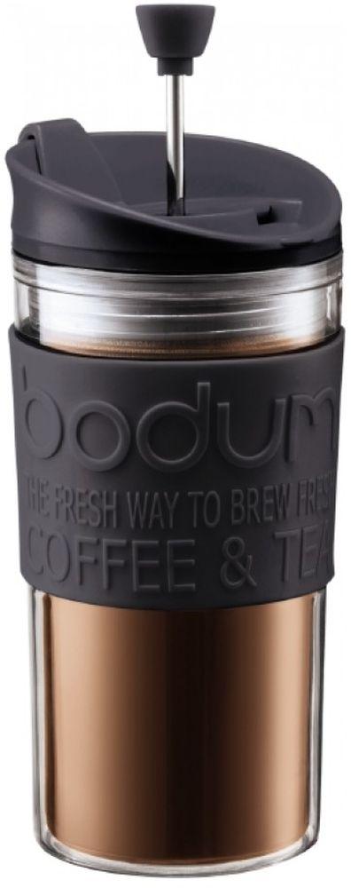 Френч-пресс Bodum Travel, цвет: черный, 350 мл11102-01