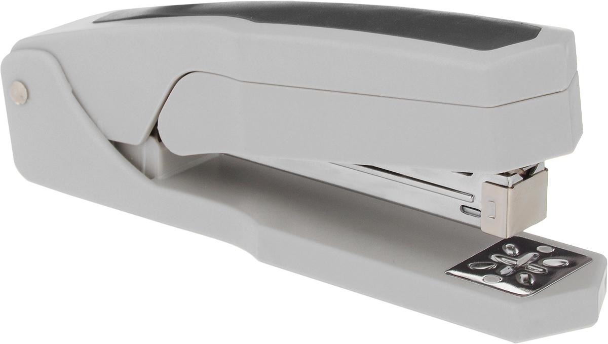 Silwerhof Степлер Ringo до 20 листов цвет серый черный401031-28Степлер Silwerhof выполнен в пластиковом корпусе с эргономичной антискользящей вставкой. У степлера имеется поворотный сшивной механизм на 360°. Возможность сшивать листы под углом 45° и 90°. Максимальная загрузка: 90 скоб №24/6-26/6. Пробивная мощность: 20 листов бумаги 80 г/м.
