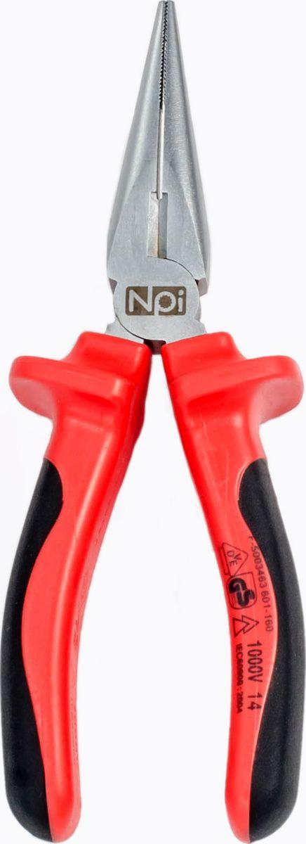 Плоскогубцы удлиненные прямые электрозащищенные NPI, 160 мм до 1000В10053Плоскогубцы удлиненные прямые электрозащищенные NPI 160мм до 1000В. Диэлектрические до 1000 В. Губки изготовлены из высокопрочной хром-ванадиевой стали, закаленные дополнительно индуктивным методом. Губки плоско-круглые, прямые с боковыми режущими кромками. Надежны и рассчитаны на профессиональные нагрузки. Длина инструмента — 160 мм обеспечивает его удобное использование и хранение.Сертифицированы по системе VDE, соответствуют стандарту IEC 60900. Соответствуют стандарту DIN 5745. Особенности модели: Двухкомпонентная эргономическая рукоятка, обеспечивает удобную работу. Дополнительно закаленные режущие кромки отличаются высокой твердостью. Твердость режущих кромок 55-60 HRC Подходят для работы, как с мягкой, так и с твердой проволокой.