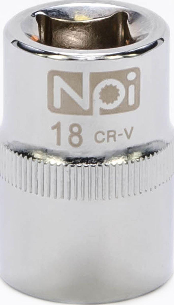Головка торцевая NPI SuperLock, 1/2, 18 мм20018Головка торцевая NPI 1/2. Тип 1/2. Торцевая головка NPI применяется с гайковертами, трещетками, воротками. Торцевая головка выполнена по технологии Суперлок. Торцевая головка обеспечивает максимальный крутящий момент по отношению к резьбе и выдерживает ударные нагрузки. Материал - высокопрочная хром-ванадиевая сталь. Соответствует стандарту DIN 3124