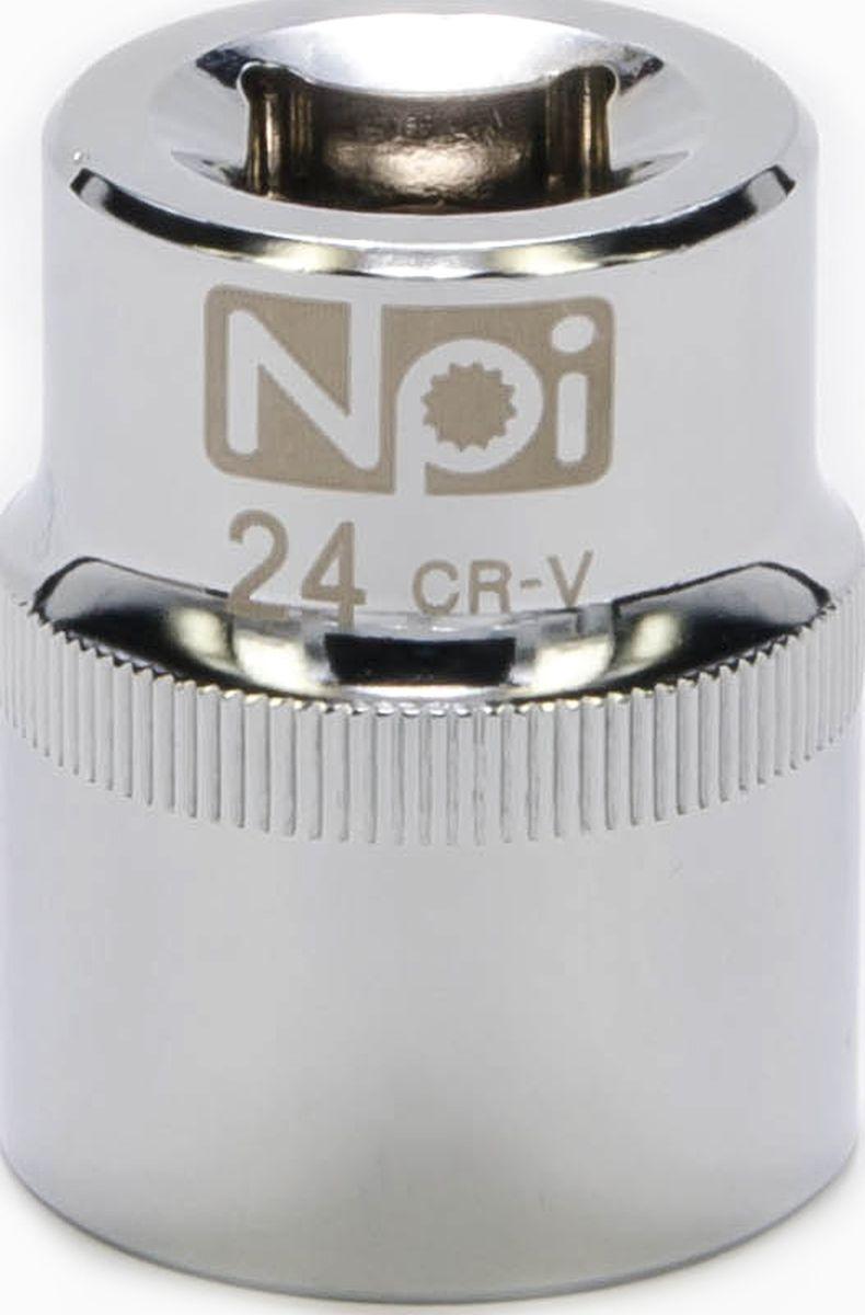Головка торцевая NPI SuperLock, 1/2, 24 мм20024Головка торцевая NPI 1/2. Тип 1/2. Торцевая головка NPI применяется с гайковертами, трещетками, воротками. Торцевая головка выполнена по технологии Суперлок. Торцевая головка обеспечивает максимальный крутящий момент по отношению к резьбе и выдерживает ударные нагрузки. Материал - высокопрочная хром-ванадиевая сталь. Соответствует стандарту DIN 3124