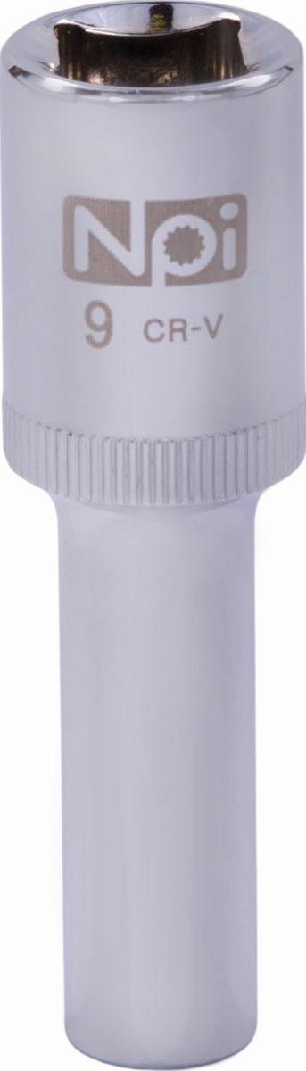 Головка торцевая удлиненная NPI, 1/2, 9 мм20040Головка торцевая удлиненная NPI 1/2. Тип 1/2. Торцевая головка NPI применяется с гайковертами, трещетками, воротками. Торцевая головка выполнена по технологии Суперлок. Торцевая головка обеспечивает максимальный крутящий момент по отношению к резьбе и выдерживает ударные нагрузки. Материал - высокопрочная хром-ванадиевая сталь. Соответствует стандарту DIN 3124.