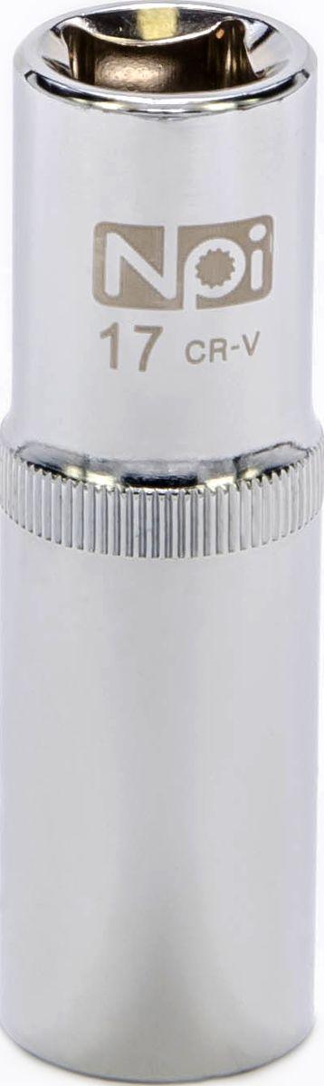 Головка торцевая удлиненная NPI, 1/2, 17 мм20045Головка торцевая удлиненная NPI 1/2. Тип 1/2. Торцевая головка NPI применяется с гайковертами, трещетками, воротками. Торцевая головка выполнена по технологии Суперлок. Торцевая головка обеспечивает максимальный крутящий момент по отношению к резьбе и выдерживает ударные нагрузки. Материал - высокопрочная хром-ванадиевая сталь. Соответствует стандарту DIN 3124.