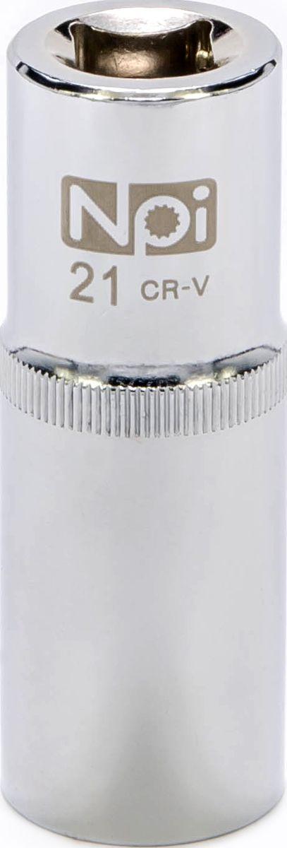 Головка торцевая удлиненная NPI, 1/2, 21 мм20056Головка торцевая удлиненная NPI 1/2. Тип 1/2. Торцевая головка NPI применяется с гайковертами, трещетками, воротками. Торцевая головка выполнена по технологии Суперлок. Торцевая головка обеспечивает максимальный крутящий момент по отношению к резьбе и выдерживает ударные нагрузки. Материал - высокопрочная хром-ванадиевая сталь. Соответствует стандарту DIN 3124.