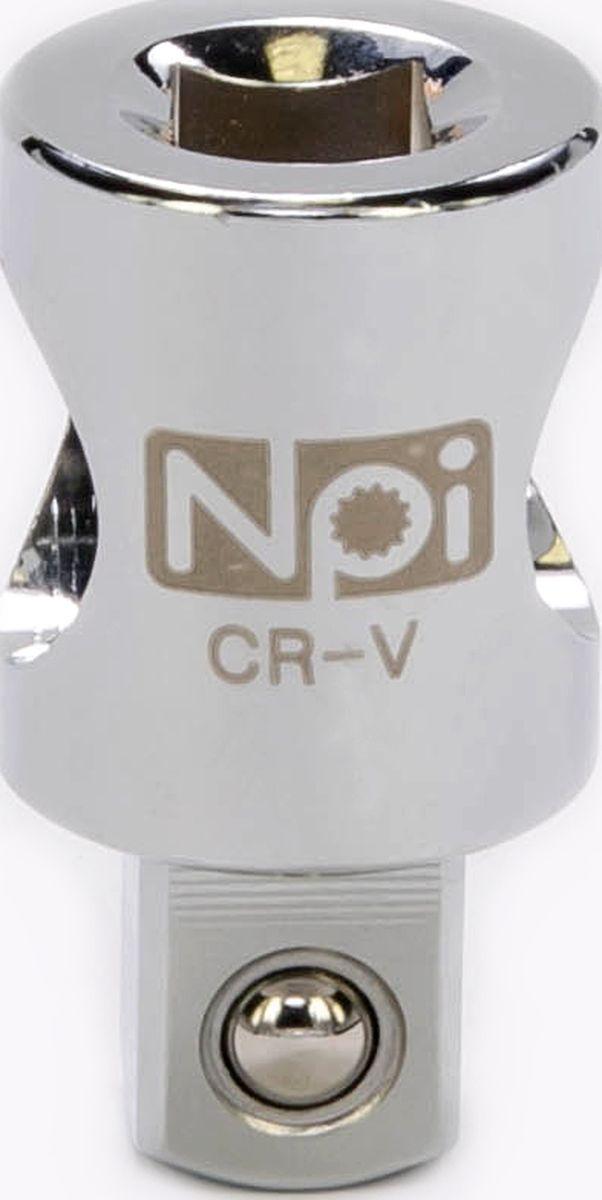 Переходник NPI, 1/2-3/820563Переходник NPI 1/2-3/8. Переходник 3/8 M x 1/2 F. Длина - 37 мм. Соответствует стандарту DIN 3123. Изготовлен из высокопрочной хром-ванадиевой стали.