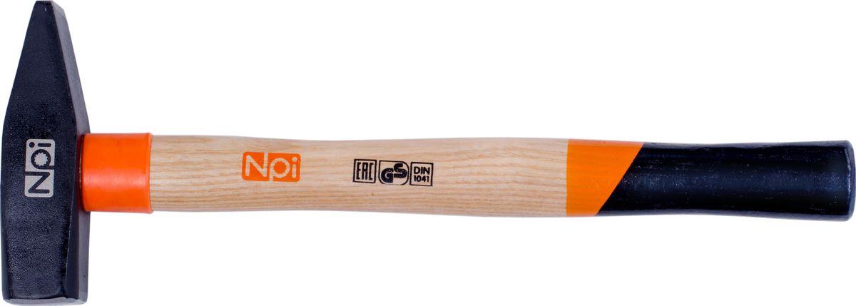 Молоток слесарный NPI, 800 г35018Молоток слесарный NPI, рукоятка из ясеневой древесины , защитное кольцо на рукоятке, эргономическая форма рукоятки, боек кованный закаленный индукционным методом, крепление с помощью расклинивания, герметизация верхней части соединения бойка для защиты от рассыхания. 800 г.