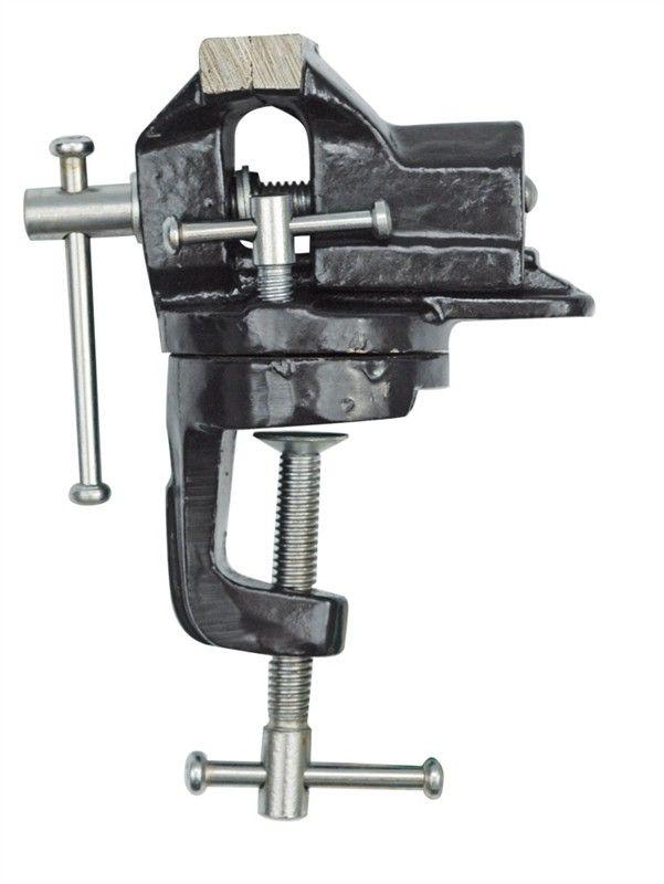 Тиски настольные поворотные Vorel, 60 мм36016Тиски VOREL настольные поворотные, размер 60 мм.