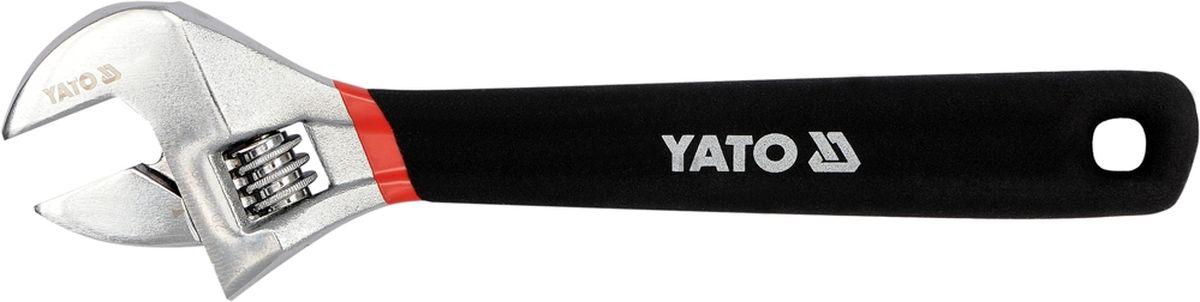 Ключ разводной Yato, с прорезиной ручкой, 150 ммYT-21650Ключ разводной YATO, длина 150 мм, обрезиненная ручка.