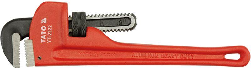 Ключ трубный Yato Stillson, изогнутый, с ПВХ-покрытием, 350 ммYT-2203Ключ трубный YATO изогнутый, тип Stillson, длина 350 мм, размер 12, ПВХ-покрытие.