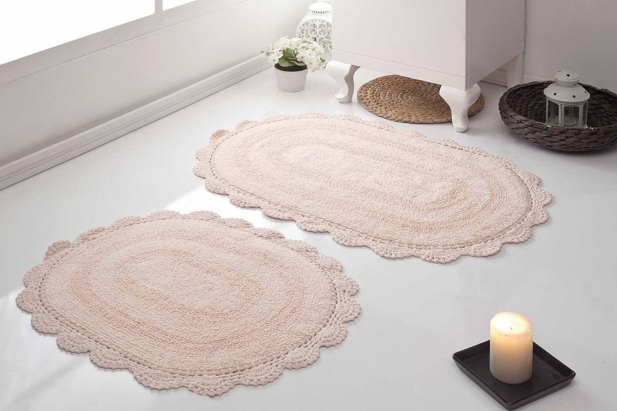 Набор ковриков для ванной Karna Modalin. Diana, цвет: абрикосовый, 2 шт5024/CHAR001
