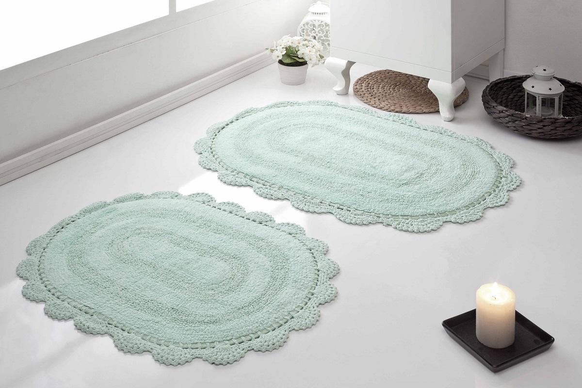 Набор ковриков для ванной Karna Modalin. Diana, цвет: светло-зеленый, 2 шт5024/CHAR006