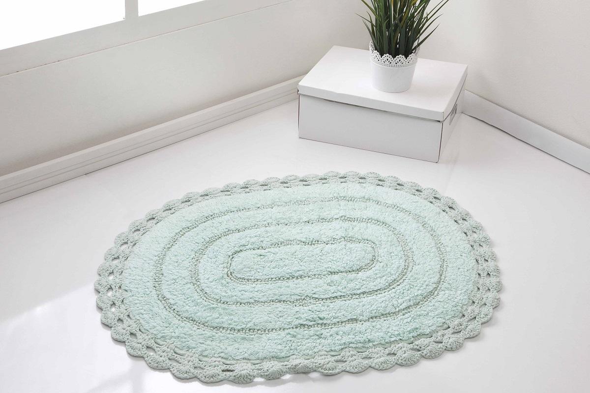 Коврик для ванной Karna Modalin. Yana, цвет: светло-зеленый, 60 х 100 см391602Кружевной коврик для ванной Karna выполнен из высококачественного хлопкового волокна. Имеет рельефный рисунок. Высочайшее качество материала гарантирует безопасность для всех членов семьи. Коврик не аллергенен, имеет высокую воздухопроницаемость и долгий срок использования ткани.Размер: 60 х 100 см.