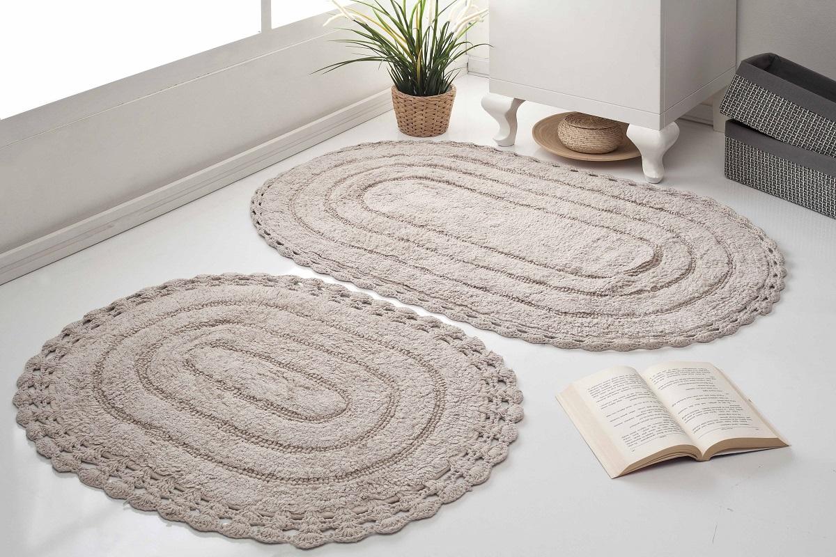 Набор ковриков для ванной Karna Modalin. Yana, цвет: капучино, 2 шт5026/CHAR001