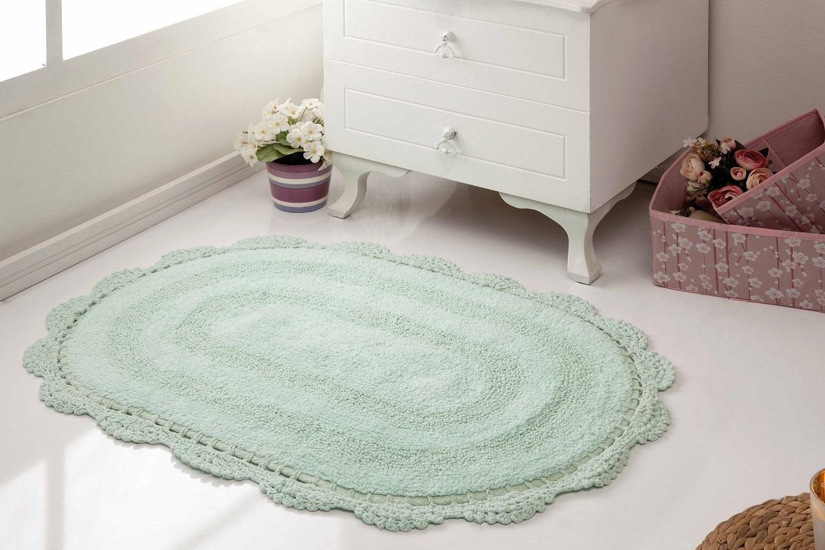 Коврик для ванной Karna Modalin. Diana, цвет: светло-зеленый, 50 х 80 см5086/CHAR006