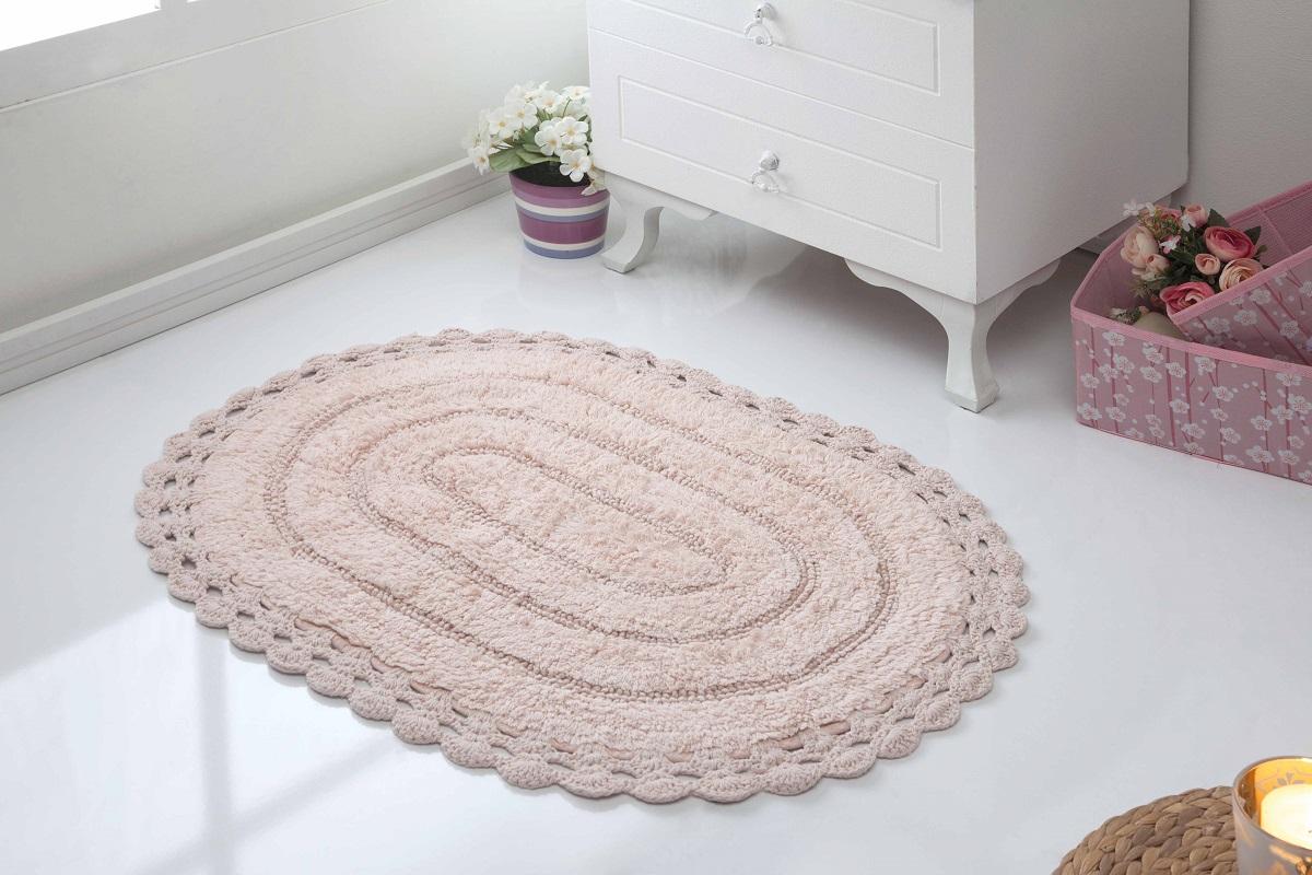 Коврик для ванной Karna Modalin. Yana, цвет: пудровый, 50 х 70 см5087/CHAR005