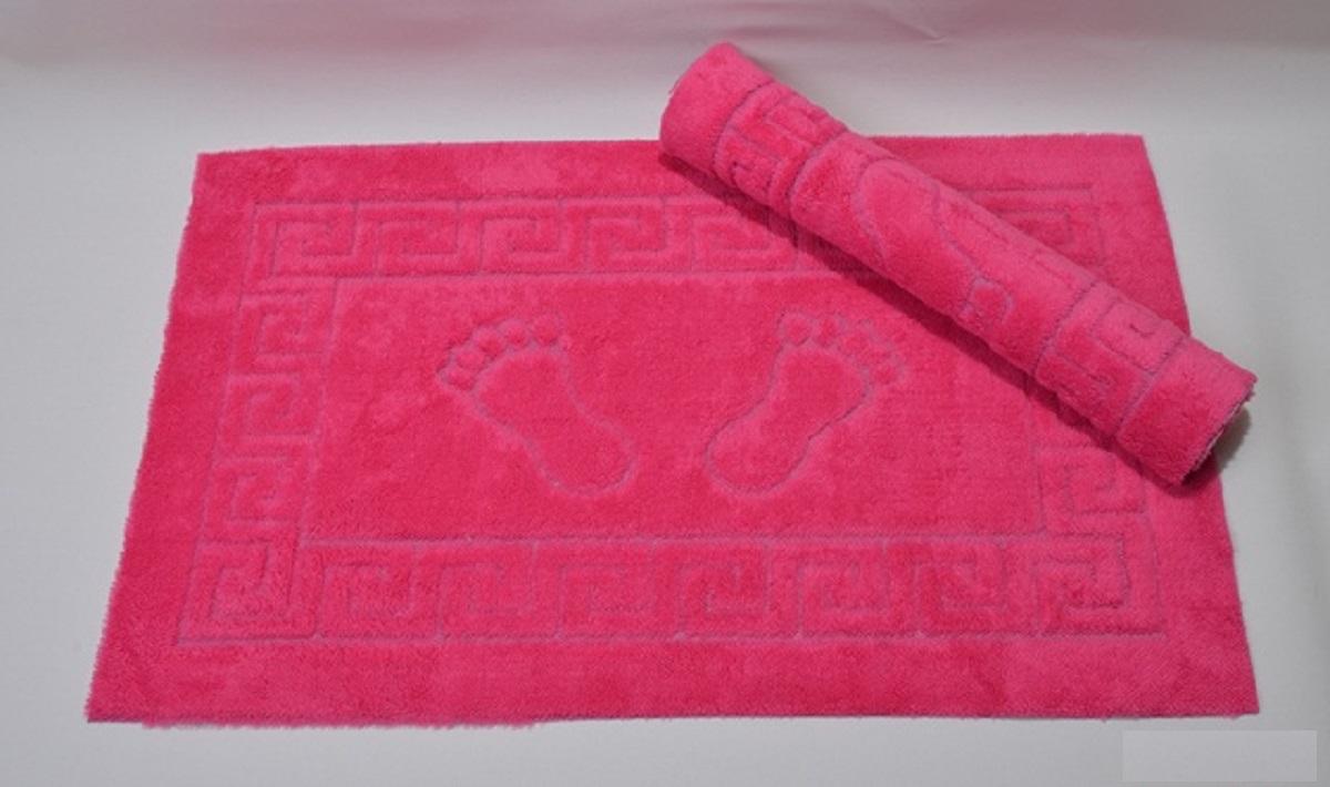 Коврик для ванной Karna Likya , цвет: фуксия, 50 х 70 см631/CHAR012