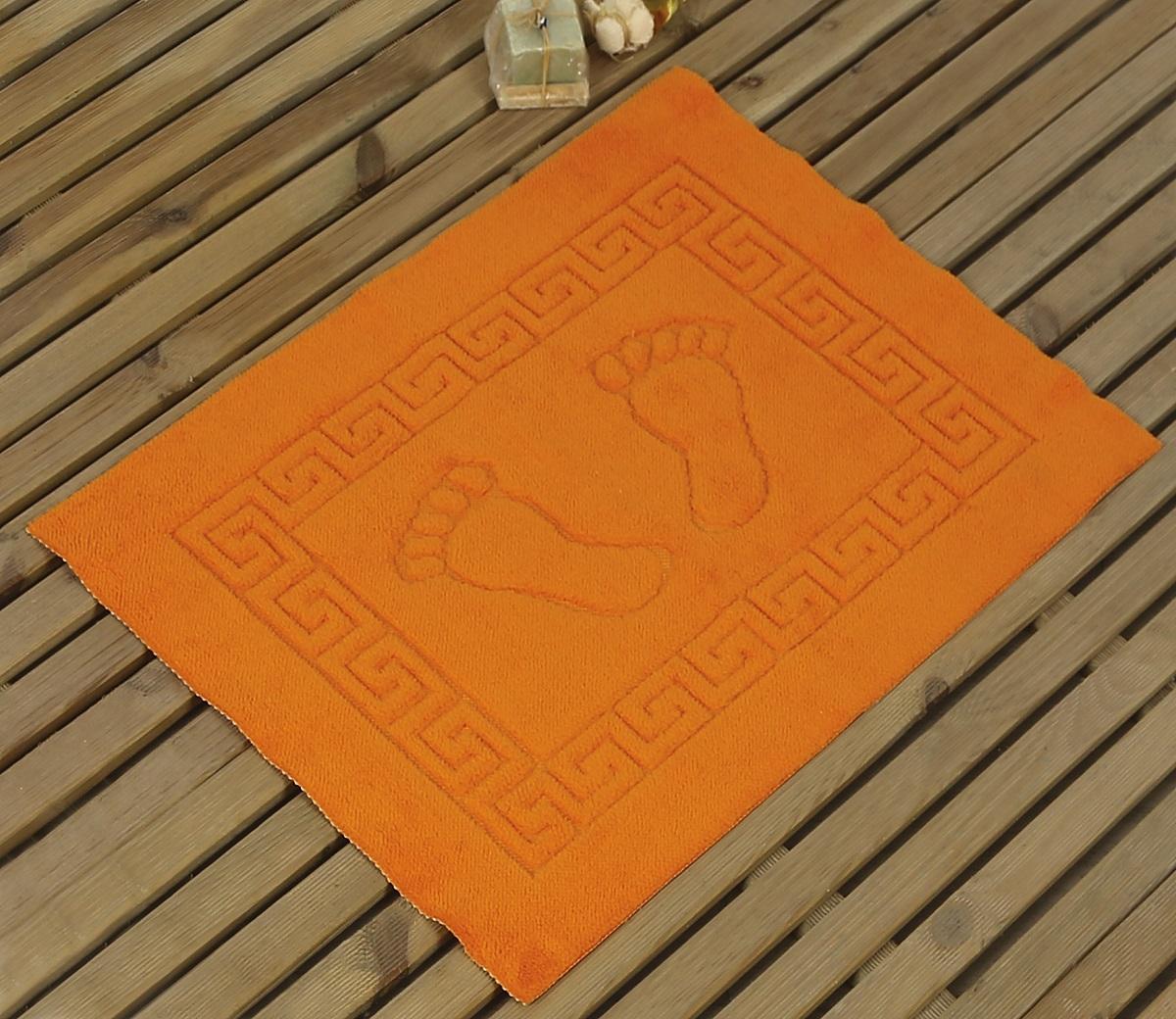 Коврик для ванной Karna Likya , цвет: оранжевый, 50 х 70 см19201Коврик печатный Karna сделан из 100% полиэстера. Полиэстер является синтетическим волокном. Ткань, полностью изготовленная из полиэстера, даже после увлажнения, очень быстро сохнет. Коврик из полиэстера практически не требователен к уходу и обладает высокой устойчивостью к износу.Коврик из полиэстера не мнётся и легко стирается, после стирки очень быстро высыхает. Материал очень прочный, за время использования не растягивается и не садится. А так же обладает высокой влагонепроницаемостью.Размер: 50 х 70 см.